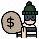 burglary, criminal, rob, robbery, theft icon