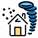 disaster, storm, tornado, weather, windy icon
