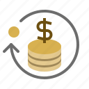 cash, currency, method, payment, tranfer icon