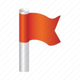 flag, location, pointer, red icon