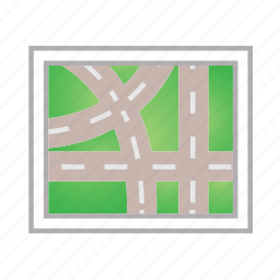 location, map, navigation, place, street icon