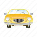 auto, car, transportation, travel, vehicle, yellow icon