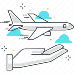 air, business, flight, insurance, plane, protection, travel icon