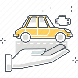 car, hands, insurance, safety, secure, security, vehicle icon