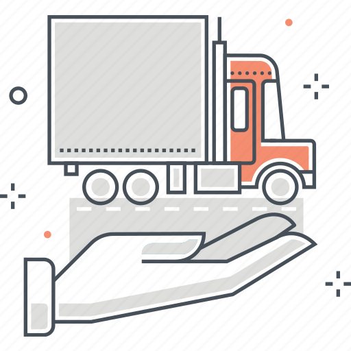 delivery, insurance, truck icon