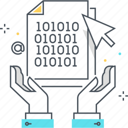 application, hand, idea, insurance, intellectual, property, software icon
