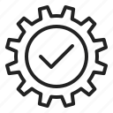 cog, configuration, gear, good, insurance, system icon