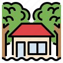 damage, disaster, flood, house, insurance