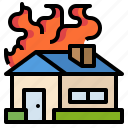 accident, damage, fire, home, insurance icon