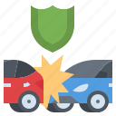 accident, car, crash, damage, insurance icon