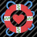 floating, help, insurance, lifebuoy, lifeguard icon