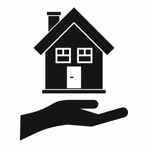 Care, hand, home, house, insurance, sale, small icon
