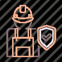 builders, insurance, risk icon