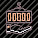 cargo, hand, insurance, shipping icon