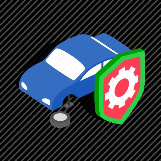 isometric, machine, mechanic, repair, service, wheel, wrench icon