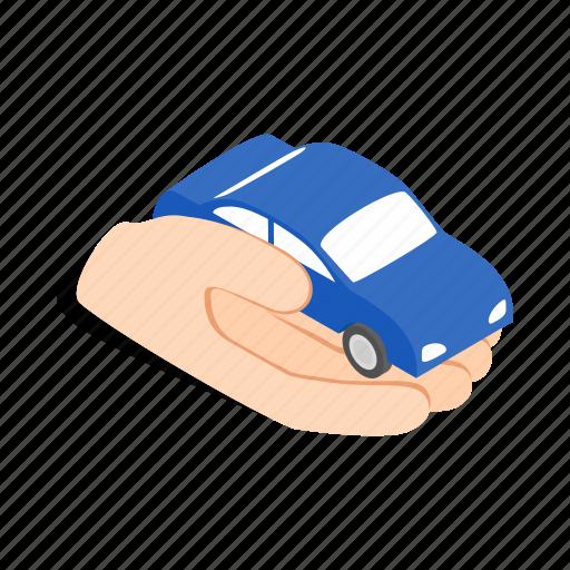hand, holds, isometric, machine, mechanic, wheel icon