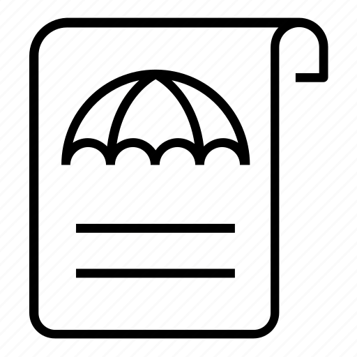 insurance, paper, policy icon