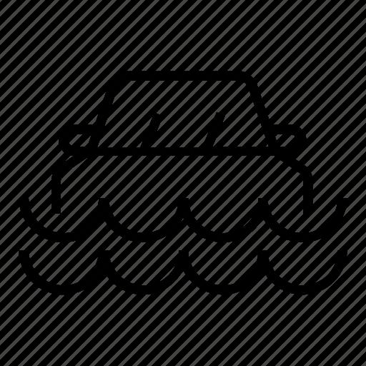 car, flood, insurance icon