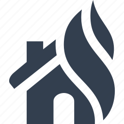 accident, danger, fire, home, house, insurance, protection icon