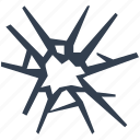 broken, danger, glass, insurance, security, shattered, thief icon