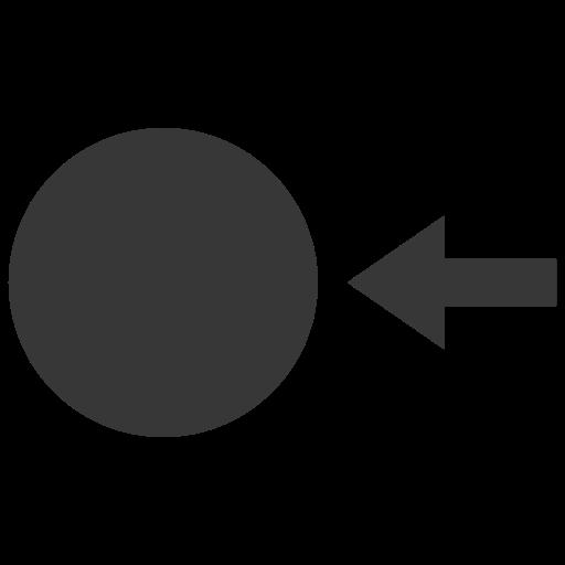 arrow, circle, point icon