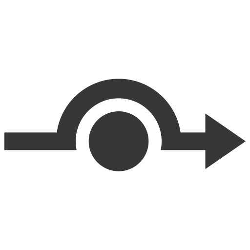 arrow, cirquit, point icon