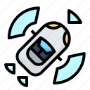 camera, car, dashcam, recording icon