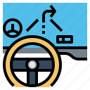 car, dashboard, displays, head, up icon