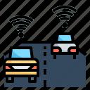 autonomous, driverless, smart, technology icon