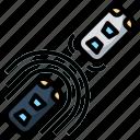 active, control, cruise, radar, sensor icon