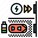 battery, electric, power, recharge, station icon
