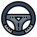 car, driving, steering, vehicle, wheel icon