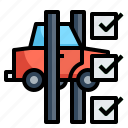 check, diagnosis, garage, repair, vehicle icon