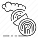 antenna, computer, data, fingerprint, satellite, signal, technology