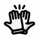agreement, friendship, high five icon