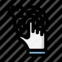 click, tap, twice icon