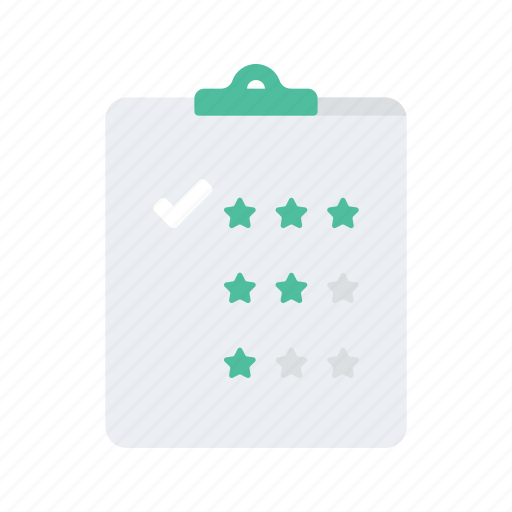 clipboard, interaction, preferences, preformance, rate, rating, star icon
