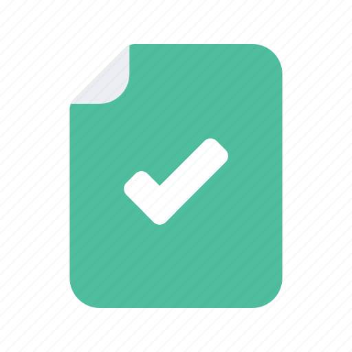 complete, confirm, file, interact, interaction, preferences, preformance icon