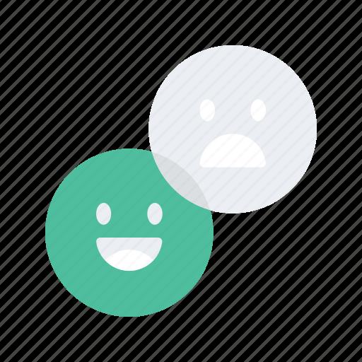 emoji, emoticon, happy, interaction, preferences, preformance, unhappy icon