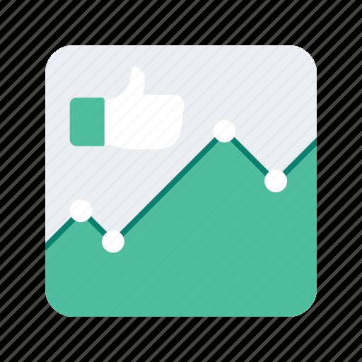 analytics, interact, interaction, like, preferences, preformance, statistics icon