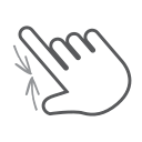 pinch, swipe, hand, finger, scroll, gesture, interactive icon