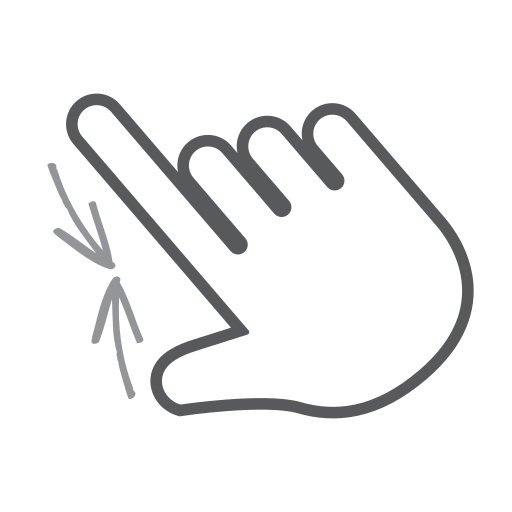 finger, gesture, hand, interactive, pinch, scroll, swipe icon