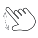 swipe, hand, spread, finger, scroll, gesture, interactive icon