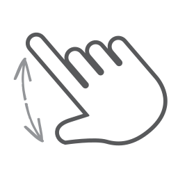 finger, gesture, hand, interactive, scroll, spread, swipe icon