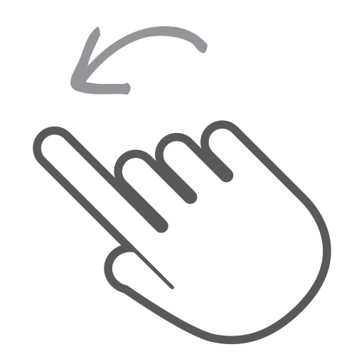 finger, gesture, hand, interactive, left, scroll, swipe icon