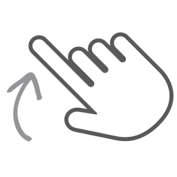 finger, gesture, hand, interactive, scroll, swipe, up icon