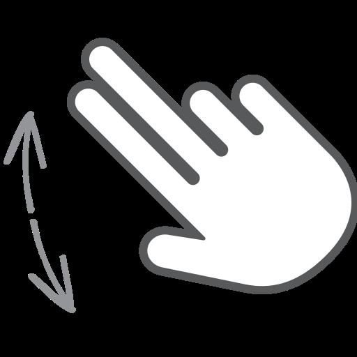 finger, gesture, hand, interactive, pinch, scroll, swipe icon