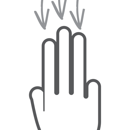 down, finger, gesture, hand, interactive, scroll, swipe icon