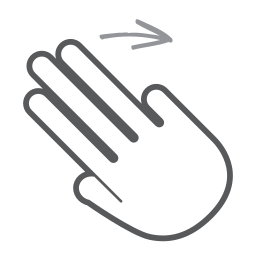 finger, gesture, hand, interactive, right, scroll, swipe icon