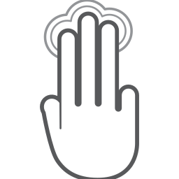 finger, gesture, hand, interactive, scroll, swipe, tap icon